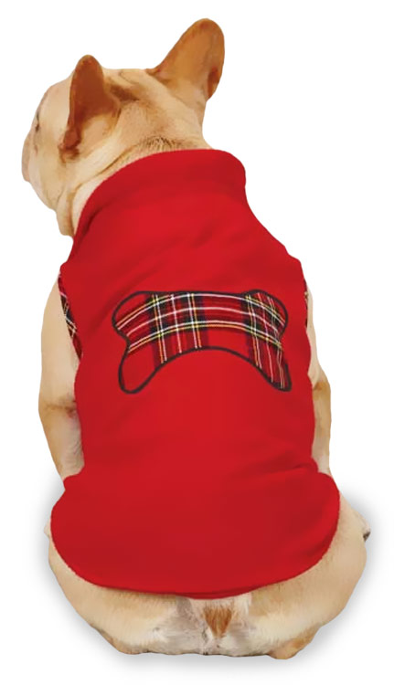 Zack & Zoey Holiday Tartan Fleece Pullovers Red