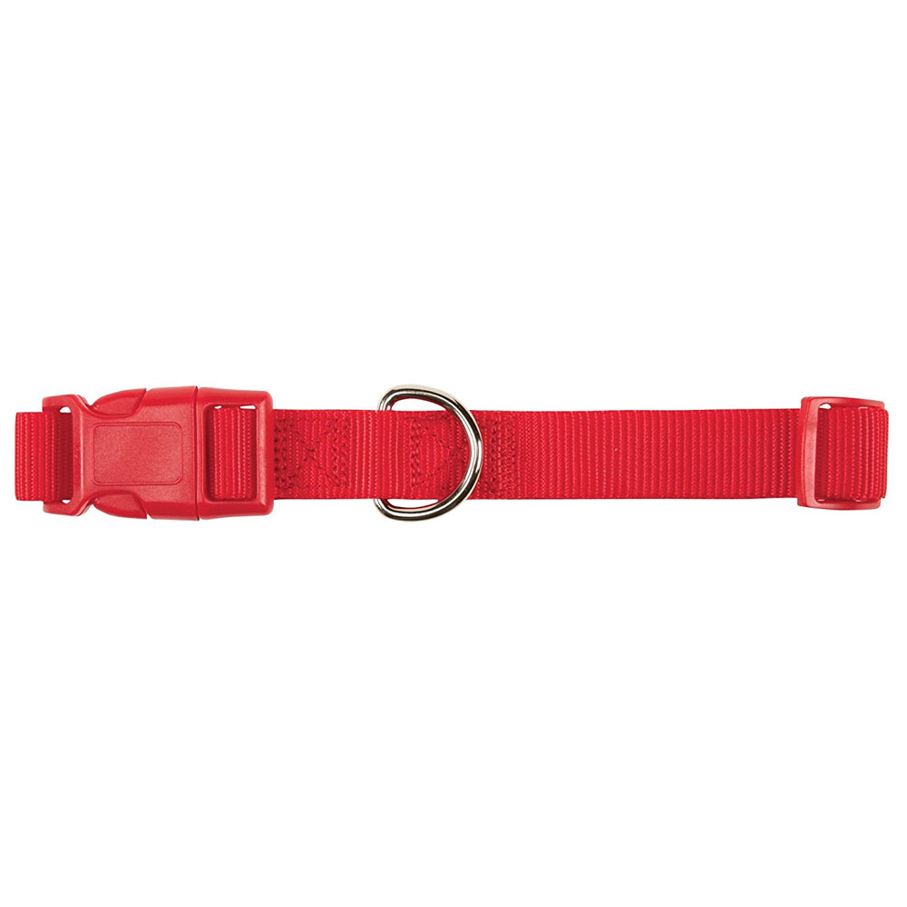 "Zack & Zoey Nylon Collar - Tomato Red (1"" Adjusts 18""-26"")"