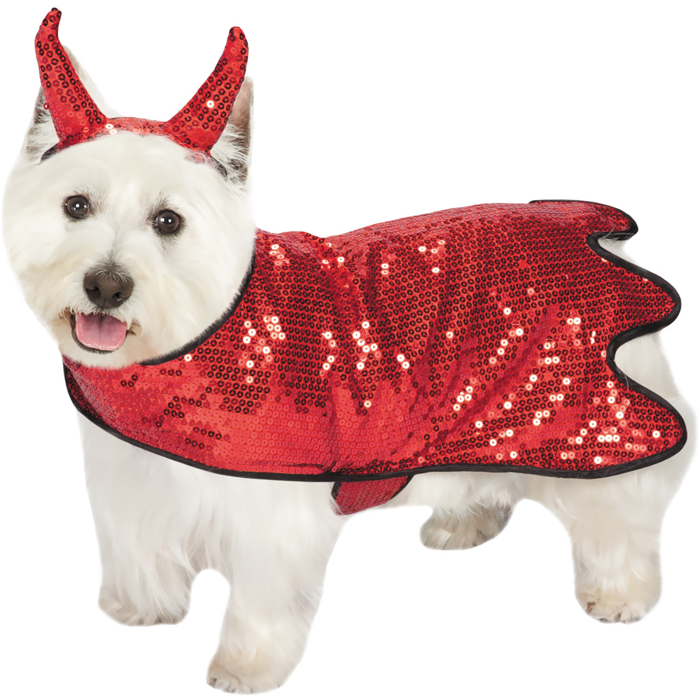 Zack & Zoey Sequin Devil Dog Costume - XSMALL