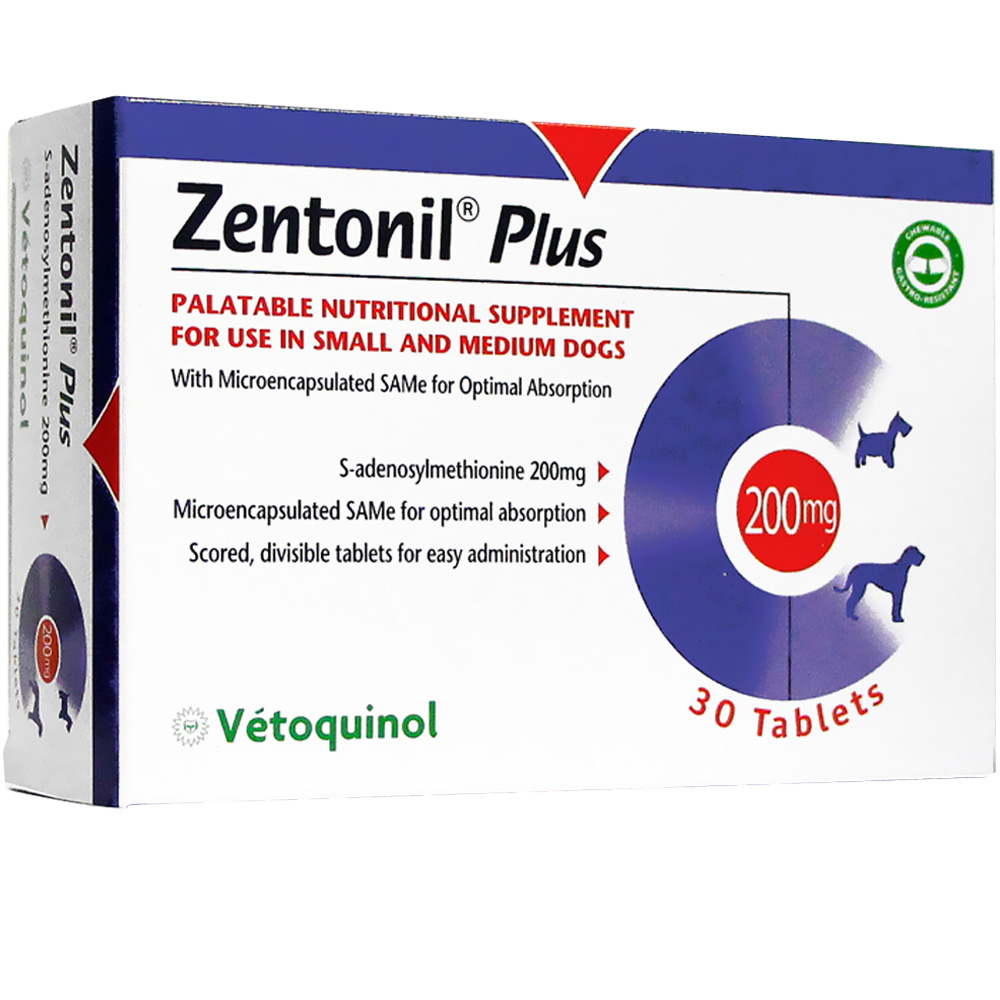 Zentonil Plus for Small to Medium Dogs 200mg (30 tablets)