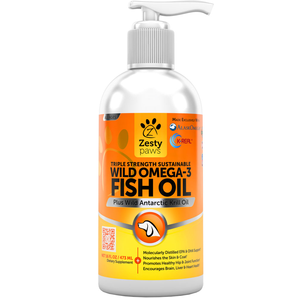 Zesty Paws Wild Omega-3 Fish Oil (16 fl oz)