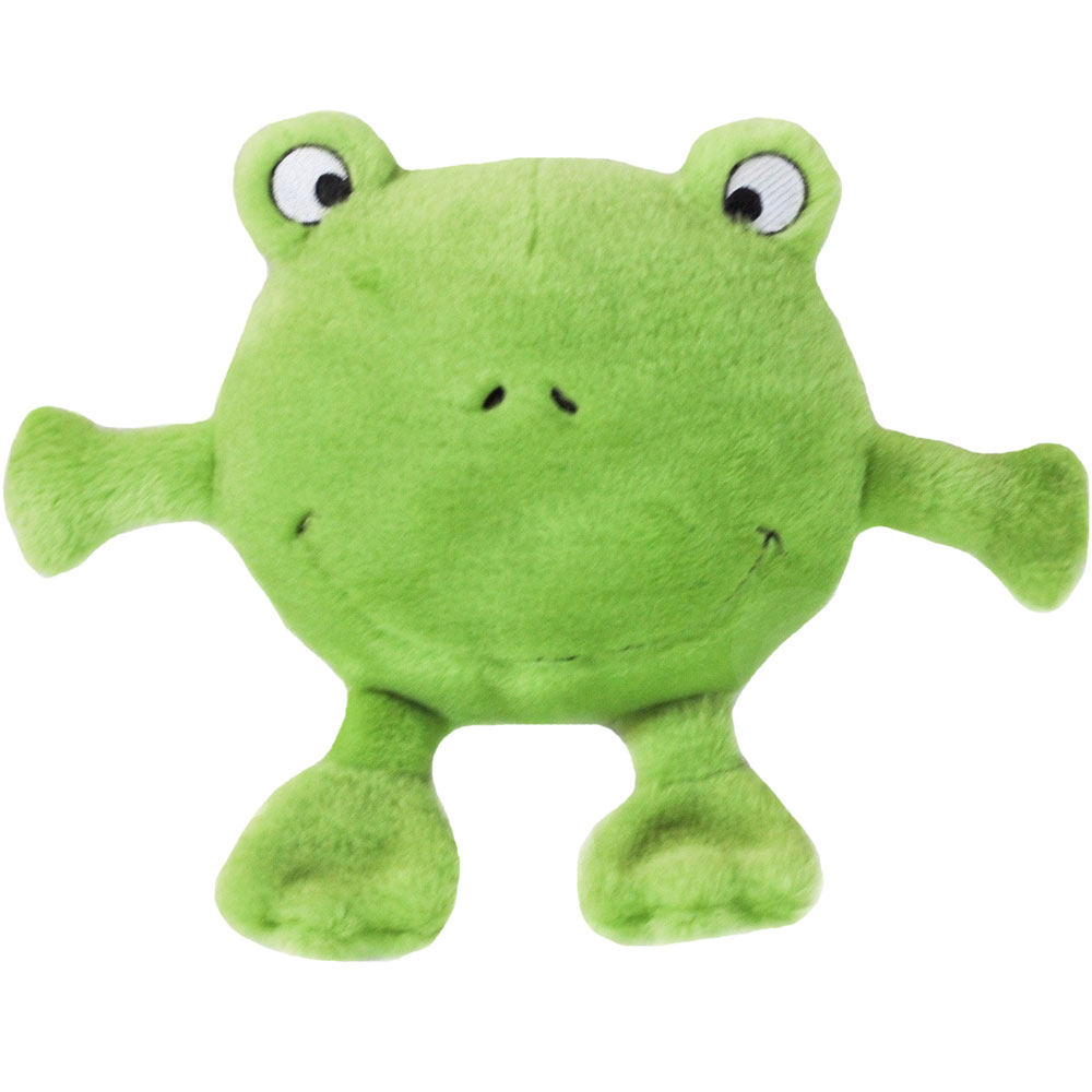 ZippyPaws Brainey Squeaky Plush Dog Toy - Frog