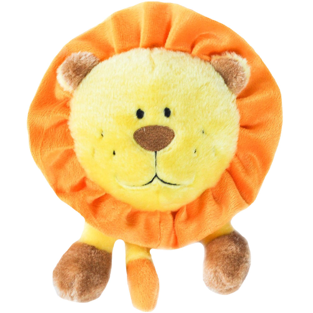 ZippyPaws Brainey Squeaky Plush Dog Toy - Lion