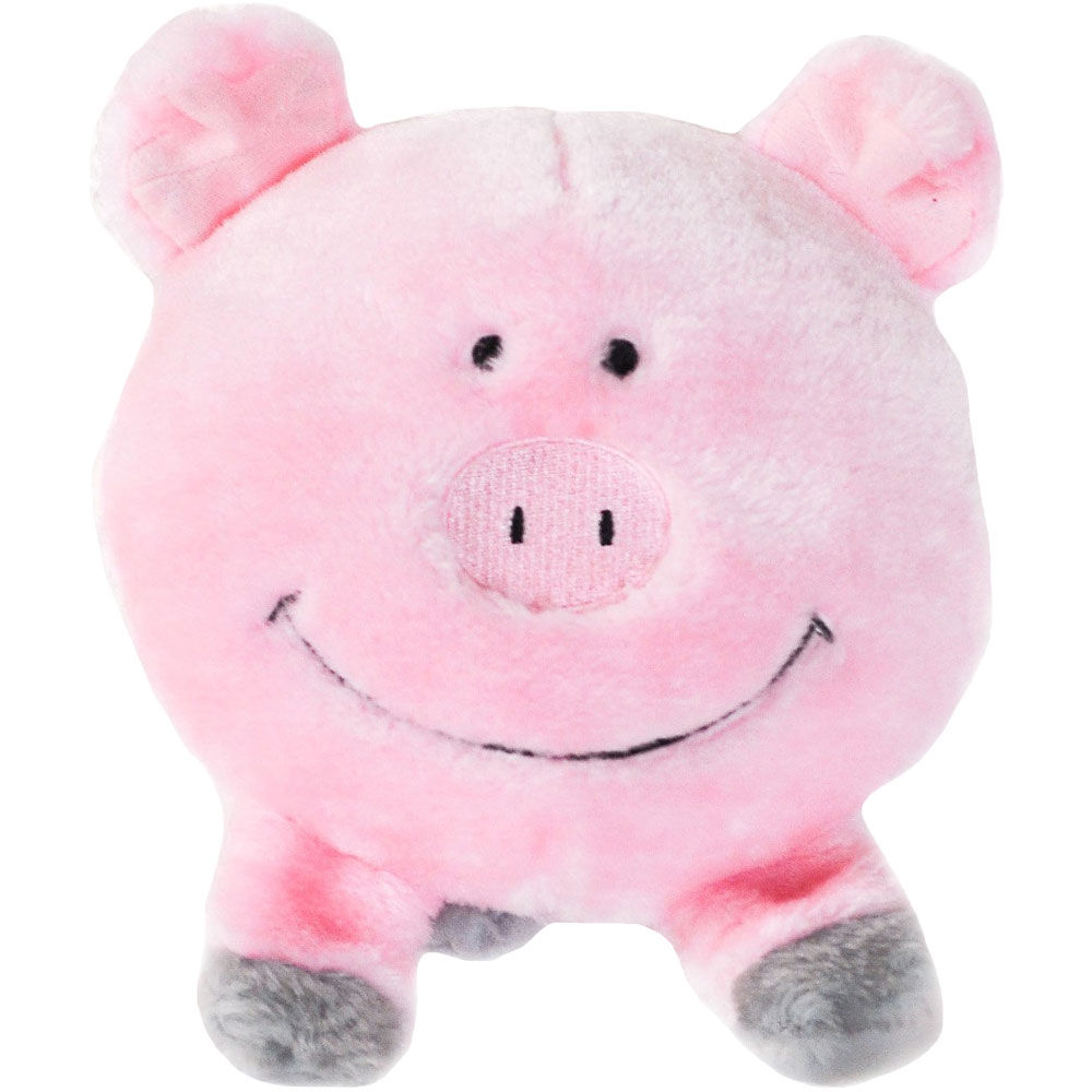ZippyPaws Brainey Squeaky Plush Dog Toy - Pig