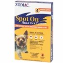 Zodiac Spot On Flea & Tick Control for Puppies under 15 lbs (4 pack)