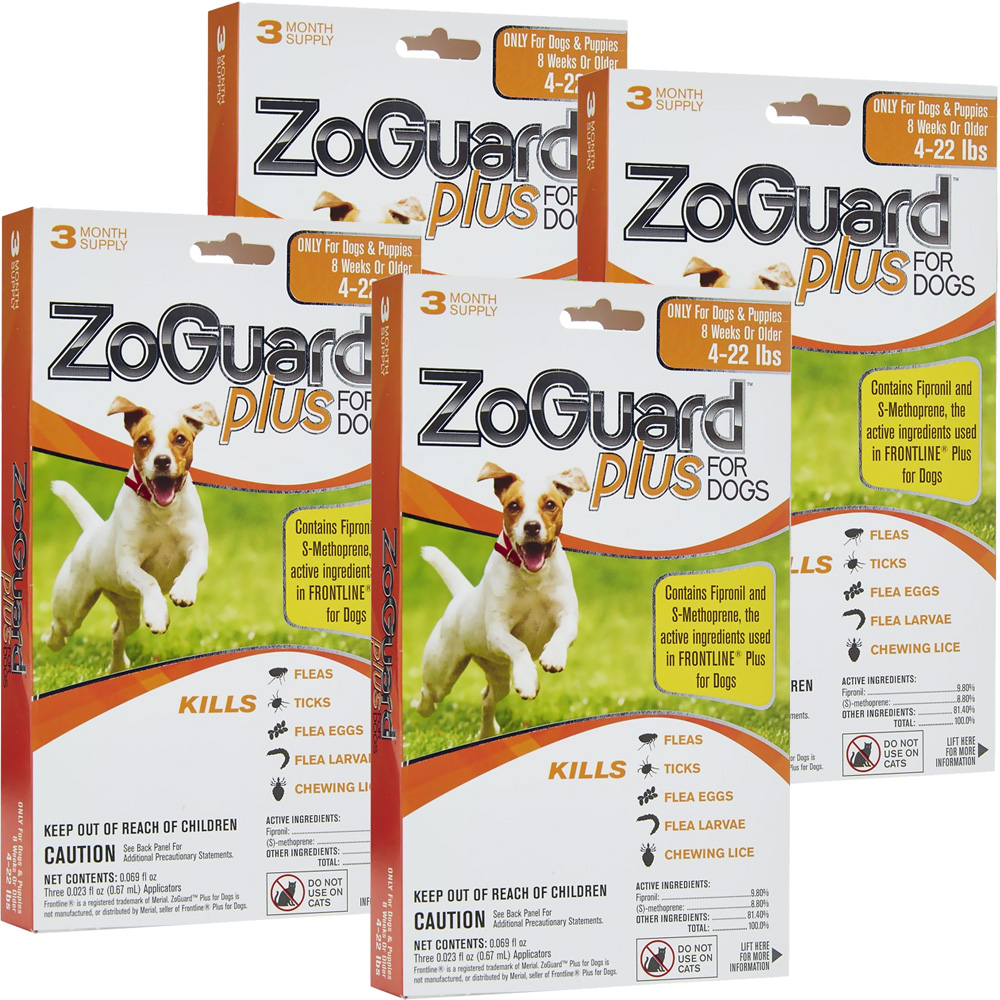 ZoGuard Plus for Dogs 4-22 lbs (12 Pack)