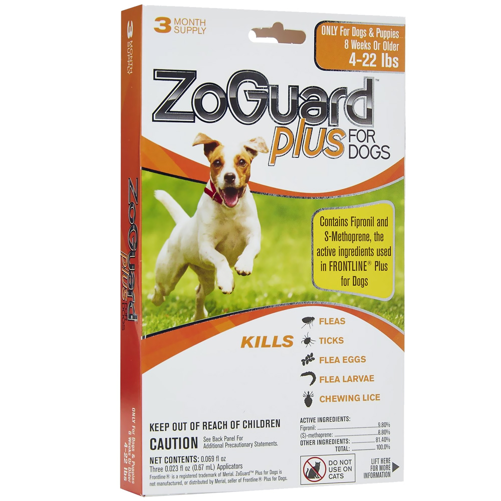 ZoGuard Plus for Dogs 4-22 lbs (3 Pack)