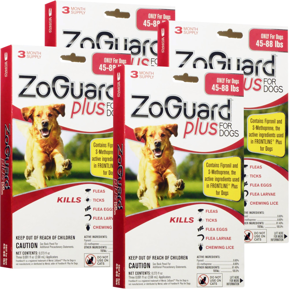 ZoGuard Plus for Dogs 45-88 lbs (12 Pack)