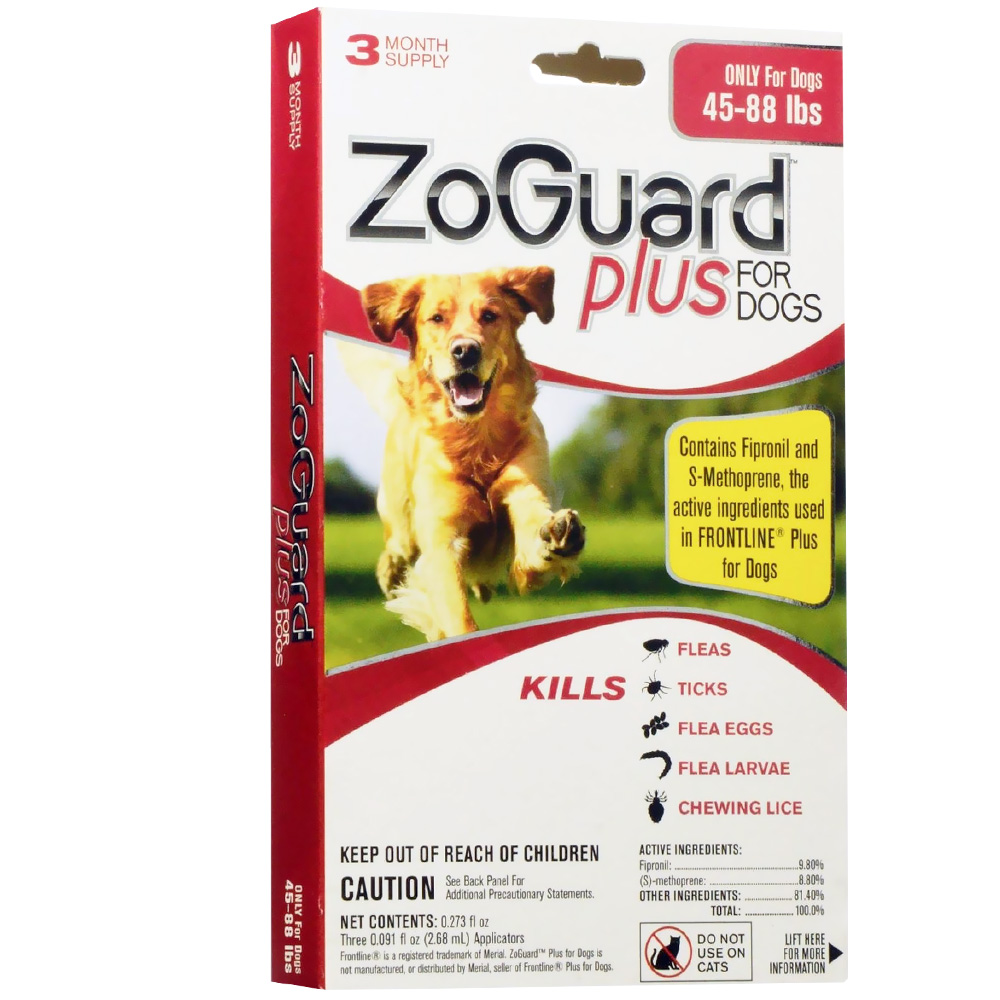 ZoGuard Plus for Dogs 45-88 lbs (3 Pack)