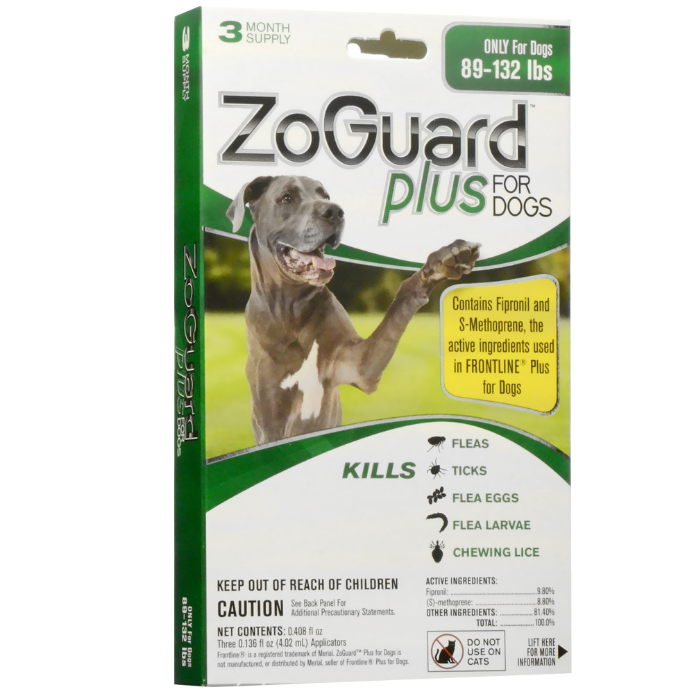 ZoGuard Plus for Dogs 89-132 lbs (3 Pack)