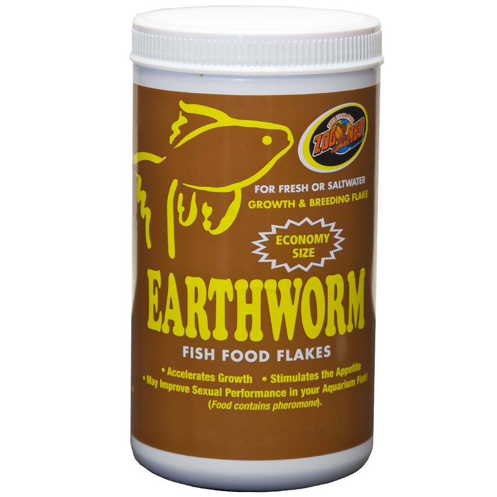 Zoo med earthworm fish food flakes 10 lb for Fish food flakes