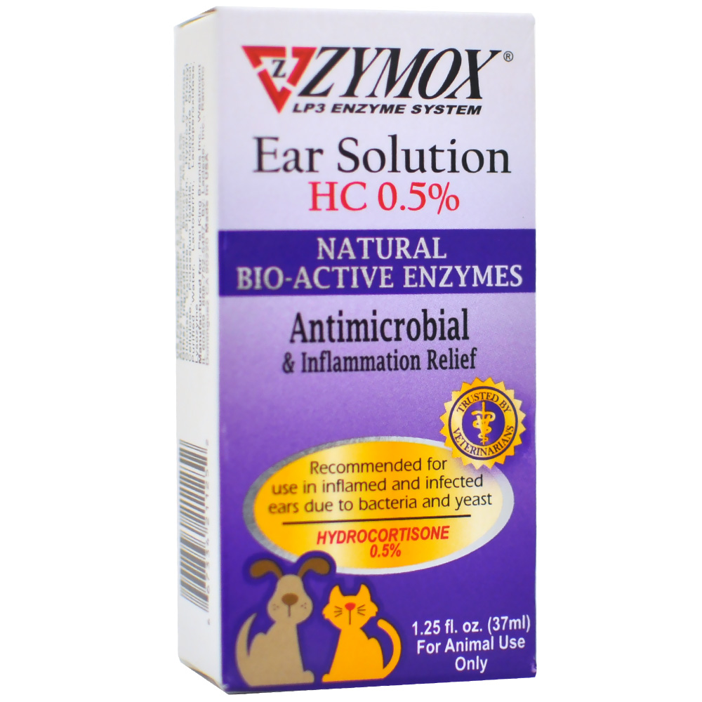 Zymox Enzymatic Ear Solution With 0 5 Hydrocortisone 1