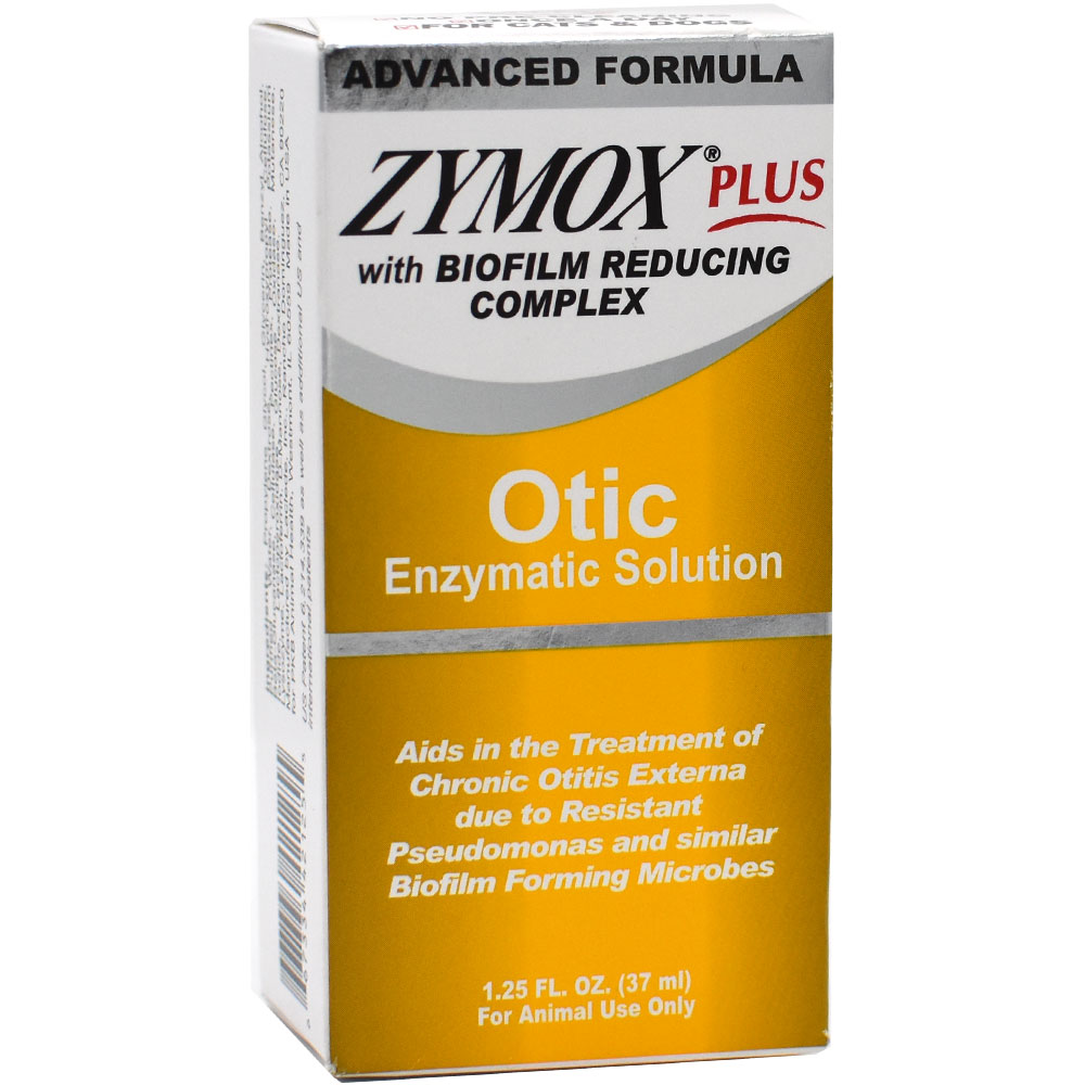 Zymox Plus Otic Enzymatic Solution with Biofilm Reducing Complex (1.25 oz)