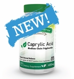 Caprylic Acid 600mg (200 Softgels) Medium Chain Triglycerides