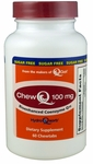 ChewQ 100mg CoQ10 (60 count bottle) featuring Advanced Absorption Hydro-Q-Sorb