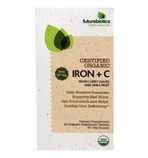Futurebiotics Iron plus C - 90 Organic Vegecapsules