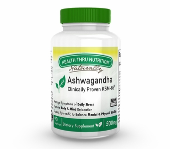 Ashwagandha (as KSM-66) 500mg (90 Vegecaps)