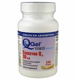 Q-Gel Forte Mini 30mg<br>Hydrosoluble CoQ10<br>240 Softgels