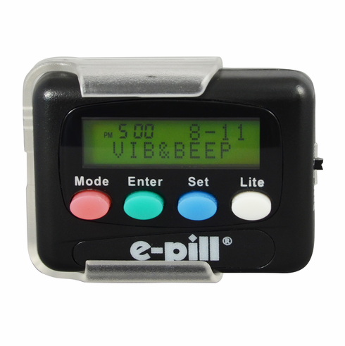 e-pill 12 Alarm Vibrating Pager <br>Medication Reminder