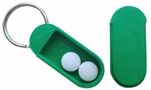 3D Key Chain Pill Box to Print on your 3 D Printer