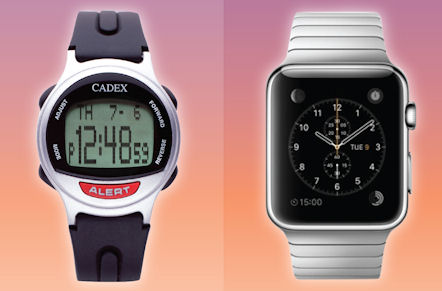 Apple Watch vs. CADEX Watch when used as an alarm watch for medications and other medicines