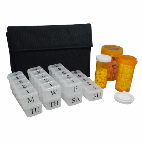 e-pill 5 Doses per Day Weekly Pillbox System