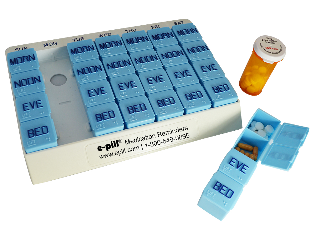 sc 1 st  e-pill Medication Reminders & e-pill CADEX Weekly PillBox Kit Aboutintivar.Com