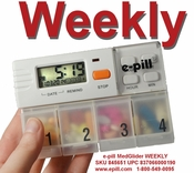 e-pill MedGlider WEEKLY 4 Alarm Timer and Weekly Pill Box System with Rack $64.95 FREE Shipping