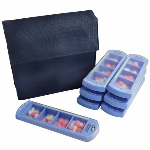 Large Pill Organizer<br>7 Day x 4 Compartments per Day
