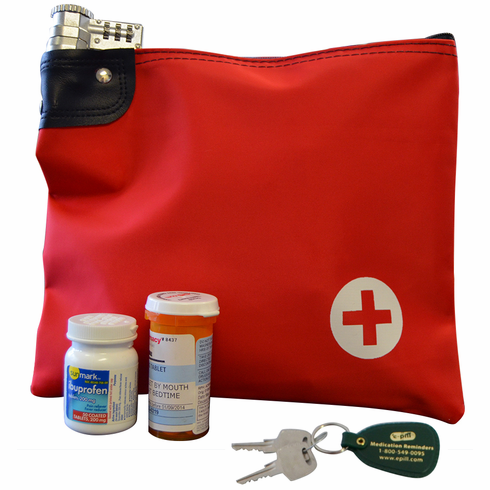 Prescription Medicine Bag with<br> Keyed Lock