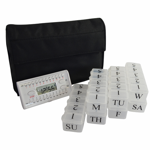e-pill Weekly 5 Doses per Day Pill Box Organizer System with Daily Timer