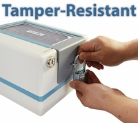 CompuMed PLUS Tamper Resistant Automatic Pill Dispenser Secure Lock + Padlock (No Monthly Fees)