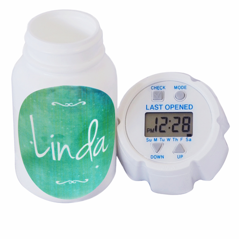 e-pill | TimeCap Pill Timer  |<br> Personalized Name