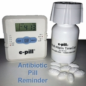 Antibiotic e-pill DUAL Reminder. 4 Daily Alarms with LAST TAKEN Reminder $69.90 FREE Shipping
