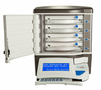 Tab and Pill Safe Monitored Automatic Pill Dispenser