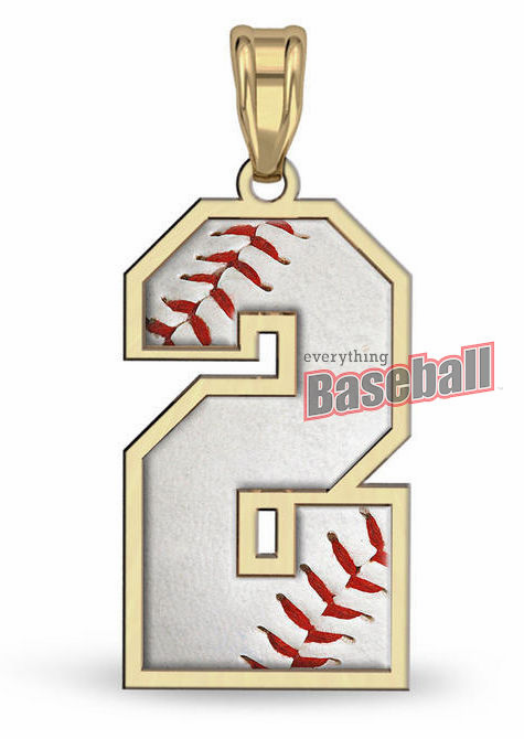 1-Digit Baseball Number Pendant<br>GOLD or SILVER<br>NOT GUARANTEED FOR CHRISTMAS DELIVERY