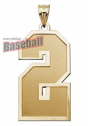 1-Digit Sports Number Pendant<br>GOLD or SILVER<br>NOT GUARANTEED FOR CHRISTMAS DELIVERY
