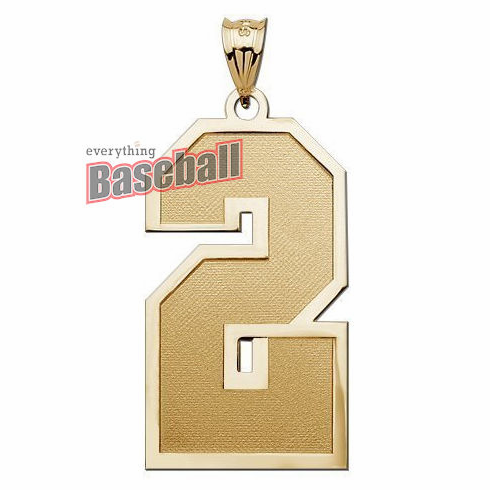 1-Digit Sports Number Pendant<br>GOLD or SILVER