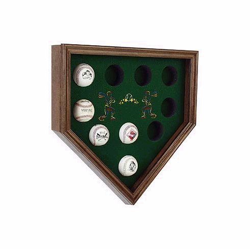 10 Ball Home Plate Shaped Display