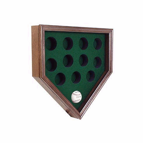 12 Ball Home Plate Shaped Display
