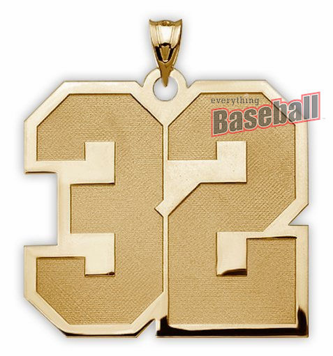 2-Digit Sports Number Pendant<br>GOLD or SILVER