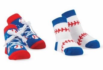 2 Pairs of Baseball Baby Socks