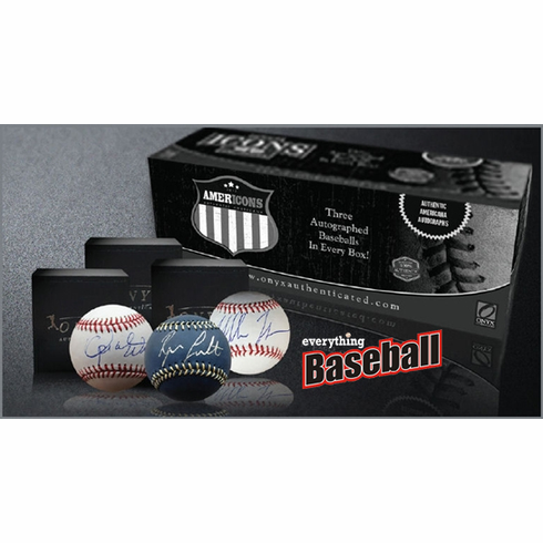 2012 Onyx Americons Baseballs Signed by Celebrities and Non-Baseball Athletes