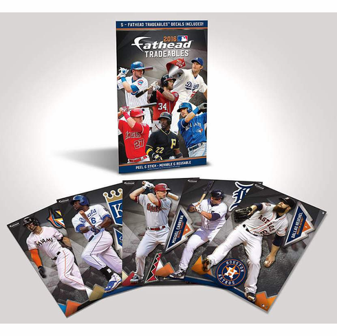 2016 MLB Pack of 5 Fathead Tradeables<br>LESS THAN 8 LEFT!