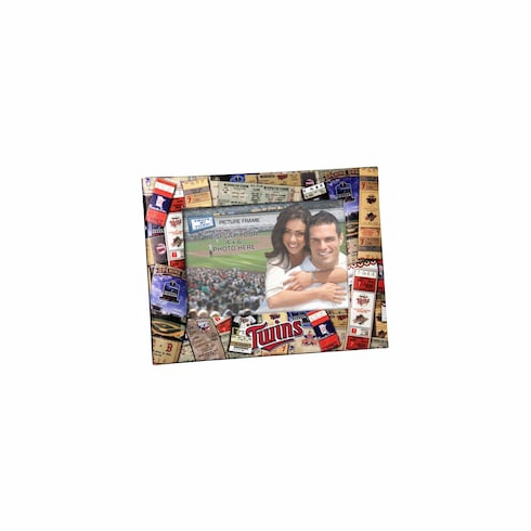 $3 $5 $7 SALE!<br>Minnesota Twins Ticket Collage 4x6 Photo Frame<br>ONLY 2 LEFT!