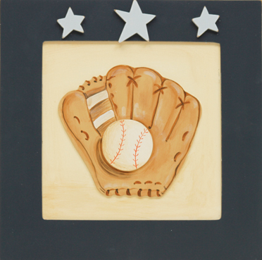 Baseball Signs Wall Decor Display Cabinets Art