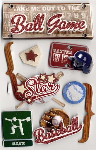 3D Baseball Stickers