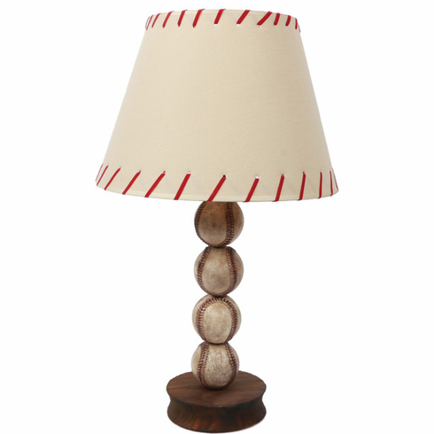 Stacked Baseball Table Lamp<br>LESS THAN 4 LEFT!