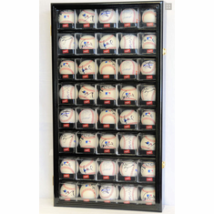 40 Baseball Arcylic Cubes Display Case Cabinet Holder Wall Rack W Uv Protection Br