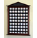 63 Golf Ball Display Case Cabinet Holder Wall Rack w/ UV Protection<br>4 WOOD COLORS!